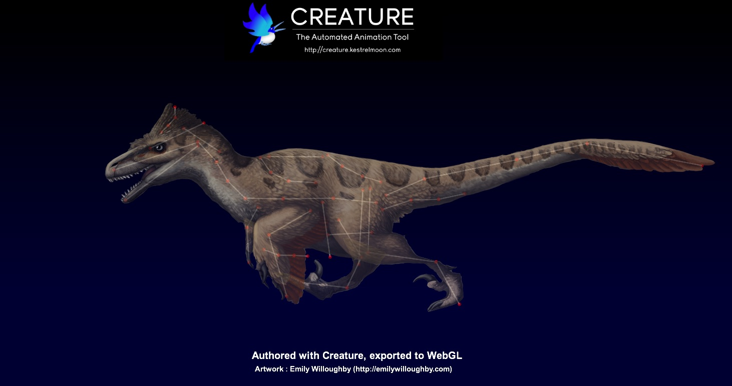Creature - 2D Procedural Bone + Mesh Animation Tool with