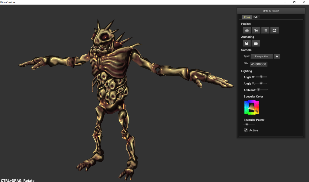 Animate Character 2D From 3D Mesh - Creature