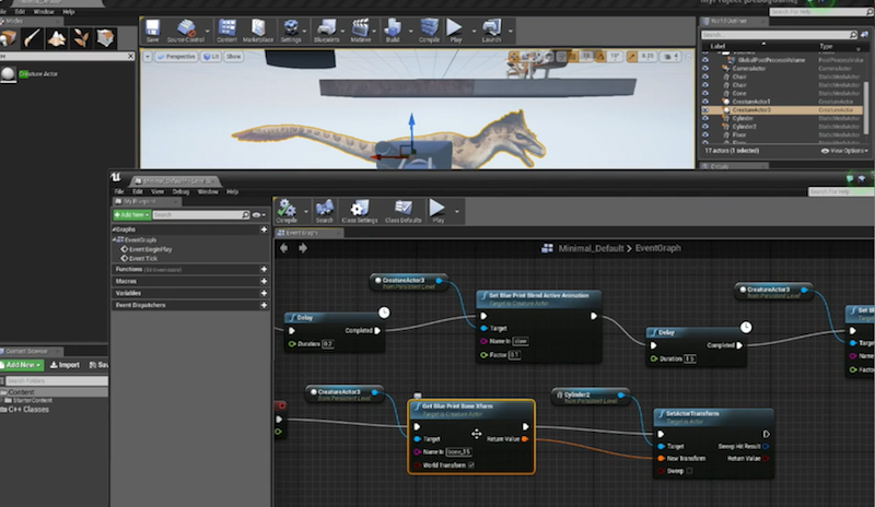 Unreal engine c runtimes creature click here to watch a more in depth look at using the creature runtime plugin and its blueprints functions to switch animation sets set collider objects malvernweather Images